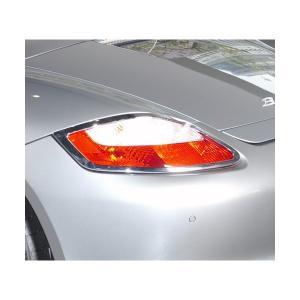 05‐11y ポルシェ ボクスター クローム テールライトリム|verger-autoparts