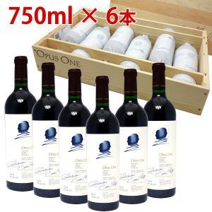 6本木箱入りセット 送料無料 2017 オーパスワン 750ml×6本 カリフォルニア 赤ワイン コ...