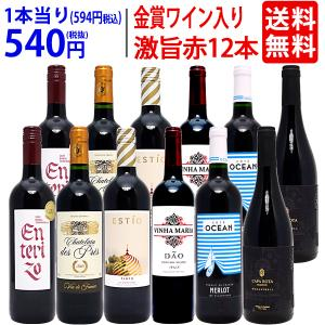 ワイン ワインセット ワイン誌高評価蔵や金賞蔵ワインも入った激旨赤12本セット 送料無料 飲み比べセ...