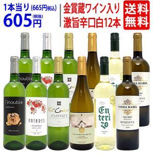 ワイン ワインセット ワイン誌高評価蔵や金賞ワインも入った辛口白12本セット 送料無料 飲み比べセッ...
