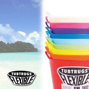 お着替えバケツ 便利グッズ TUBTRUGS FLEXIBLE 丸バケツ Lサイズ(高さ33cm、開口部45cm) 雑貨 サーフィン スノボ 洗濯 ガーデニング