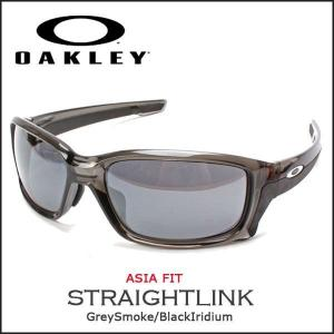 1d7ae5a3b4a サングラス オークリー OAKLEY ストレートリンク STRAIGHTLINK アジアンフィット グレースモーク Grey Smoke Black  Iridium
