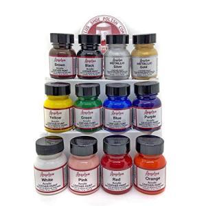 Angelus Acrylic Leather Paint Starter Kit  [並行輸入品] verticalimport