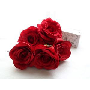 赤バラのみのパーツの髪飾り(5Uピンパーツ):HA018|vertpalette-store