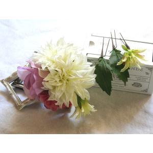 ヘッドドレス(髪飾り)ダリアとバラのパーツセット(Uピン):HA029|vertpalette-store