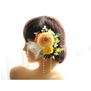 髪飾り(ヘッドドレス) ラナンキュラスのパーツセット|vertpalette-store