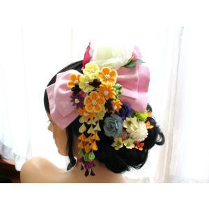 花ちりめんとピオニーとバラのパーツセット(18パーツ):HA047|vertpalette-store