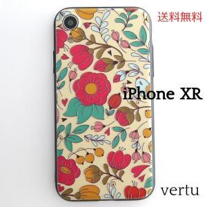 iPhoneXR ケース エンボス 花と鳥 ソフト カバー スマホケース