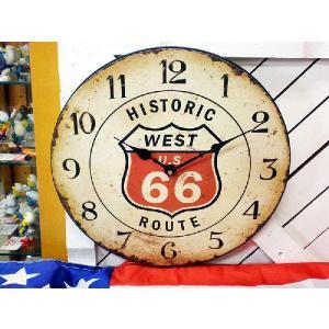 ヒストリックルート66 ルート66 レトロ調 壁掛け時計 アメリカ 雑貨 アメリカン雑貨|veryberry