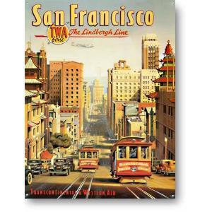 サンフランシスコ 古き良き時代の風景 アメリカンブリキ看板 アメリカ 雑貨 アメリカン雑貨|veryberry