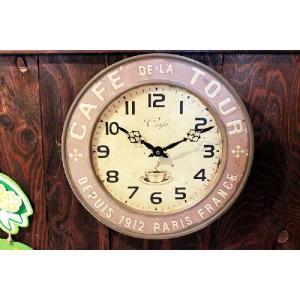 カフェ ブラウン レトロ調 壁掛け時計|veryberry