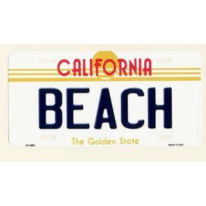 CALIFORNIA ビーチ カリフォルニア州 フラットタイプ ライセンスプレート アメリカ 雑貨 アメリカン雑貨|veryberry
