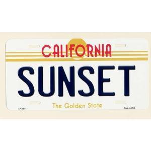 CALIFORNIA サンセット カリフォルニア州 フラットタイプ ライセンスプレート アメリカン雑貨 アメリカ雑貨|veryberry