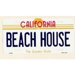 CALIFORNIA ビーチハウス カリフォルニア州 フラットタイプ ライセンスプレート アメリカ 雑貨 アメリカン雑貨|veryberry