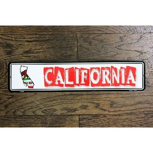 カリフォルニア州 CALIFORNIA ミニストリートサイン アメリカンブリキ看板 アメリカ 雑貨 アメリカン雑貨|veryberry