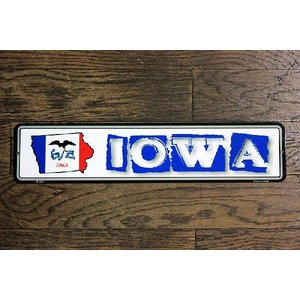 アイオワ州 IOWA ミニストリートサイン アメリカンブリキ看板 アメリカ雑貨 アメリカン雑貨 veryberry