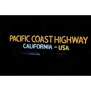 PACIFIC COAST HIGHWAY CALIFORNIA USA ネオン管 パシフィック・コースト ハイウェイ カリフォルニア|veryberry