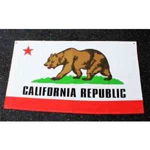 カリフォルニア州 フラッグ 旗 約135×80cm コットン製 アメリカ 雑貨 アメリカン雑貨|veryberry