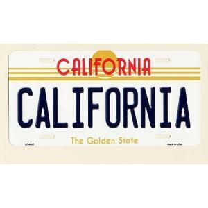 CALIFORNIA カリフォルニア州 フラットタイプ ライセンスプレート アメリカン雑貨 アメリカ雑貨|veryberry