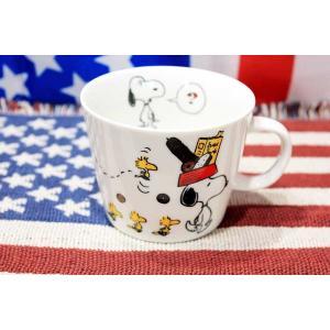 スヌーピー ウッドストック マグカップ BREAD柄 デカマグシリーズ 陶器製 PEANUTS アメリカ 雑貨 アメリカン雑貨|veryberry