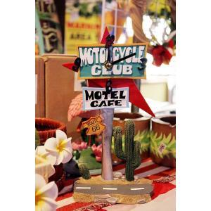 ジオラマ仕立ての置き時計 MOTOR CLUB MOTEL CAFE|veryberry