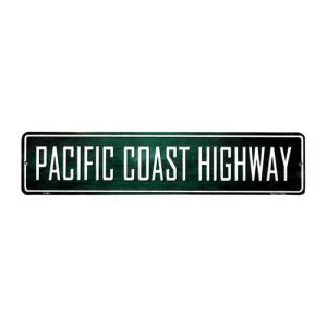 パシフィックコーストハイウェイ カリフォルニア州道1号線 ミニストリートサイン アメリカンブリキ看板|veryberry