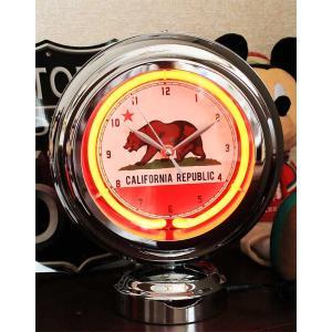 カリフォルニア テーブルネオンクロック 置時計 絵になるインテリア時計|veryberry