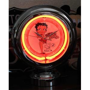 ベティ ブープ テーブルネオンクロック 置時計 絵になるインテリア時計|veryberry