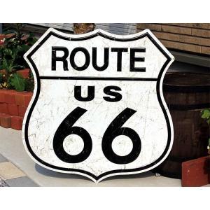 ルート66 大型看板 標識型 アメリカンブリキ看板|veryberry