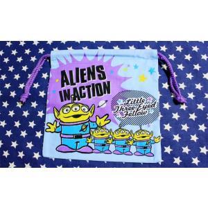 トイ・ストーリー エイリアン ミニ巾着袋 両面プリント 約20×19センチ ディズニー|veryberry