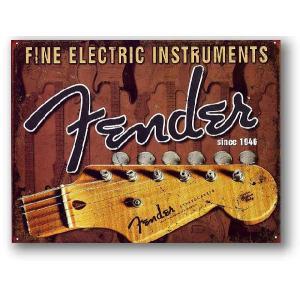 フェンダー エレキギター Headstock ストラトキャスター アメリカンブリキ看板 アメリカ 雑貨 アメリカン雑貨 veryberry