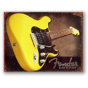 フェンダー エレキギター Make History ストラトキャスター アメリカンブリキ看板 アメリカ 雑貨 アメリカン雑貨 veryberry
