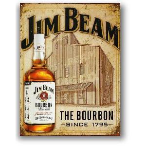 ジンビーム THE BOURBON レトロシリーズ JIM BEAM アメリカンブリキ看板 アメリカ...