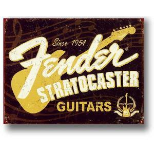 フェンダー エレキギター・Since 1954 ストラトキャスター アメリカンブリキ看板 アメリカ 雑貨 アメリカン雑貨 veryberry