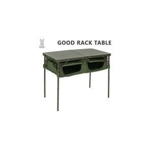 折りたたみテーブル DOD ディーオーディー グッドラックテーブル TB4-685-KH カーキ アウトドアテーブル 送料無料|veryfast