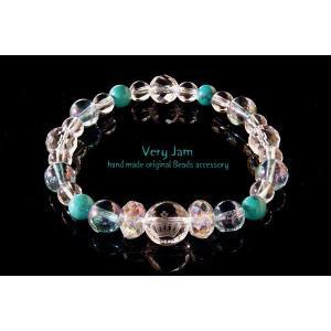 パワーストーン ブレスレット メンズ天然石 数珠ブレス キュートな彫刻水晶 ターコイズのブレスレット veryjam