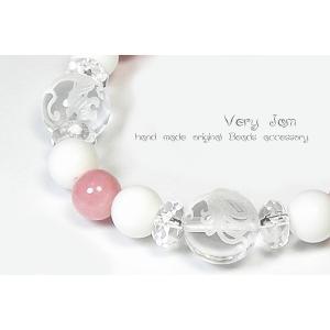 天然石 数珠ブレス 風水四神 水晶×ピンクオパール×ホワイトオニキスvj|veryjam