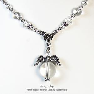 パワーストーン天然石  水晶のプチ天使 ネックレスvj|veryjam