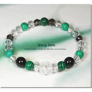 天然石パワーストーン ブレスレット メンズ 水蓮 -positive green- ポジティブグリーンvj|veryjam