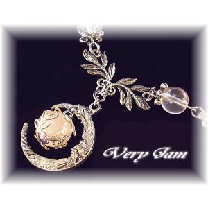 天然石パワーストーン 月と愛の女神のローズクオーツ ハンドメイド チョーカーvj(3)|veryjam