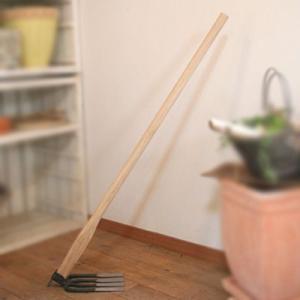 四本刃鋤簾柄付・ジョレン(手打ち) 園芸用品|vg-harada