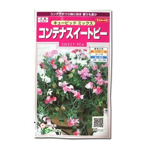 花の種 コンテナスイートピー[キューピッド ミックス] 2ml(メール便可能)|vg-harada
