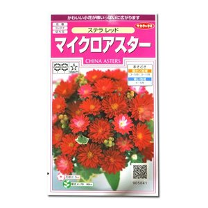 花の種 マイクロアスター[ステラ レッド] 0.5ml(メール便発送)|vg-harada