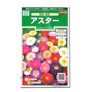 花の種 アスター[松本 混合] 1ml(メール便可能)|vg-harada