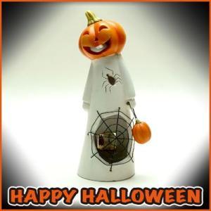 ハロウィン LEDスパイダーパンプキン/Halloween 雑貨 ランタン|vg-harada