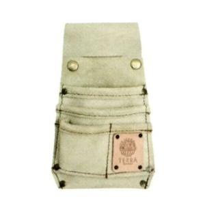 TERRA ウエストバッグ (小)ベージュ TR-40BE 本革製 ガーデニング・雑貨|vg-harada