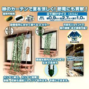 つる植物 栽培セット[ブラウン]立て掛けタイプ(スリム)幅0.9×高さ2.7×奥行1.0m 緑のカーテン/みどりのカーテン 農業資材|vg-harada