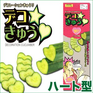 デコきゅう(家庭菜園用キュウリの型)ハート型 ガーデニング・雑貨|vg-harada