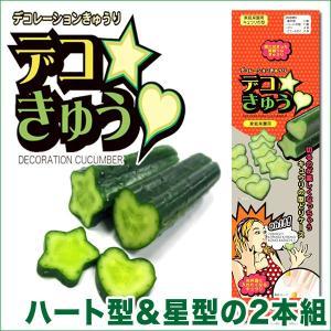 デコきゅう(家庭菜園用キュウリの型)ハート型と星型の2本組 ガーデニング・雑貨|vg-harada