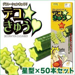 デコきゅう(家庭菜園用キュウリの型)星型×50本セット ガーデニング・雑貨|vg-harada